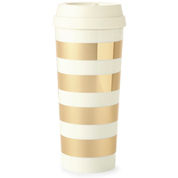 Kate Spade Travel Mug Gold Stripe