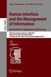 Human Interface and the Management of Information. Information in Applications and Services image