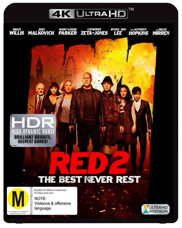 Red 2 on UHD Blu-ray