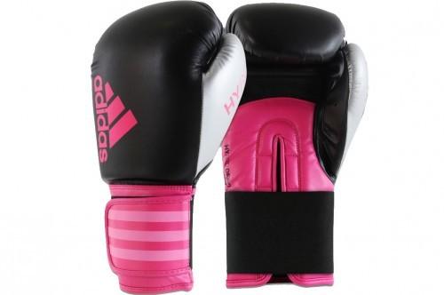 Adidas - 12oz Black/Pink/Silver Hybrid Glove