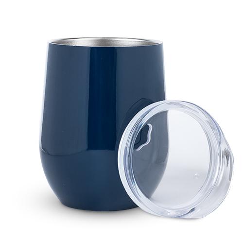 True: Sip & Go Stemless Wine Tumbler - Navy Blue