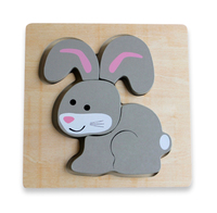 Discoveroo: Wooden Chunky Puzzle - Bunny image