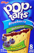 Kellogg's Pop Tarts Unfrosted Blueberry
