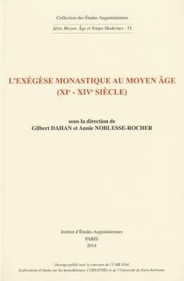 L'Exegese Monastique Au Moyen Age (Xie-Xive Siecle) image