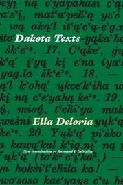 Dakota Texts by Ella Cara Deloria