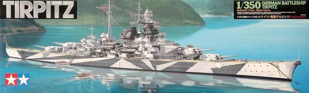 Tamiya Tirpitz German Battleship 1/350 Model Kit