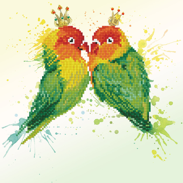 Diamond Dotz: Facet Art Kit - Love Birds (Intermediate)
