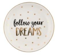 Metallic Monochrome Follow Your Dreams Trinket Dish
