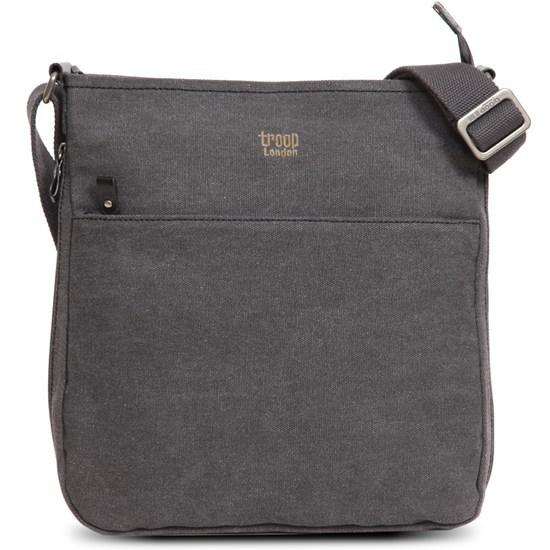 Troop London: Classic Zip Top Shoulder Bag - Black