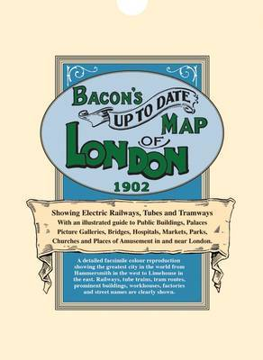 Bacon's Up-to-Date Map of London 1902 image