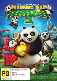 Kung Fu Panda 3 on DVD