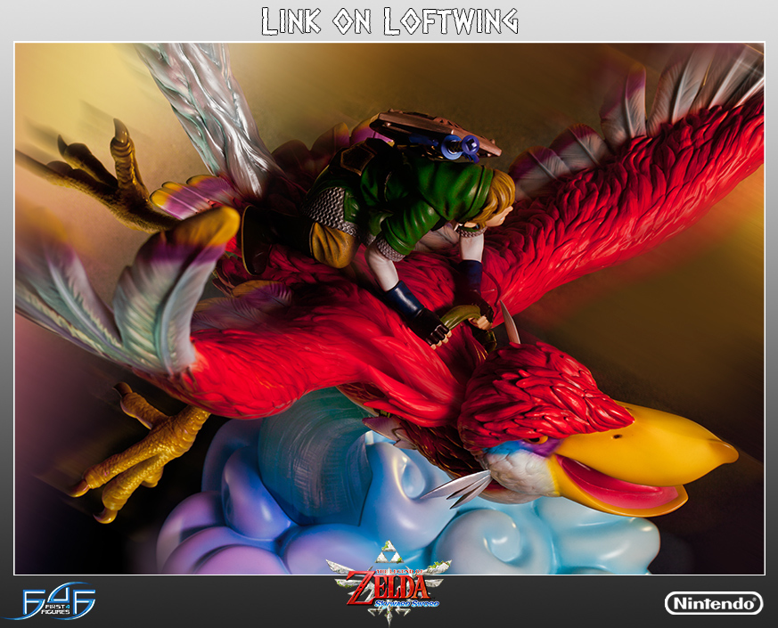 Zelda Link on Loftwing Statue image