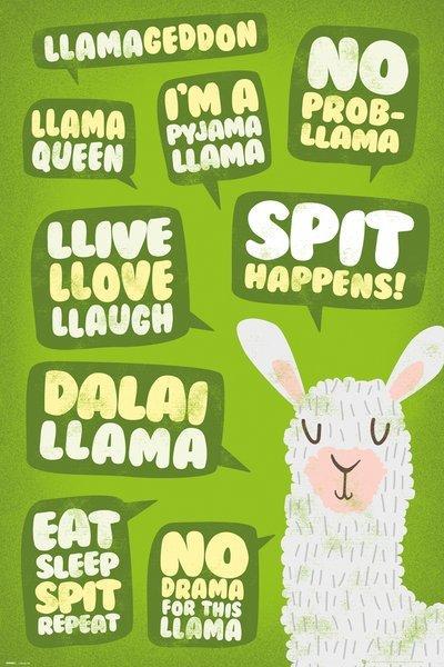 Llama Maxi Poster - Quotes (848)