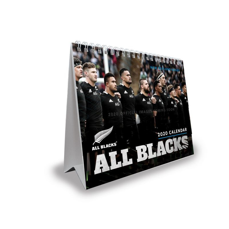 All Blacks 2020 Desk Easel - Double View Calendar image