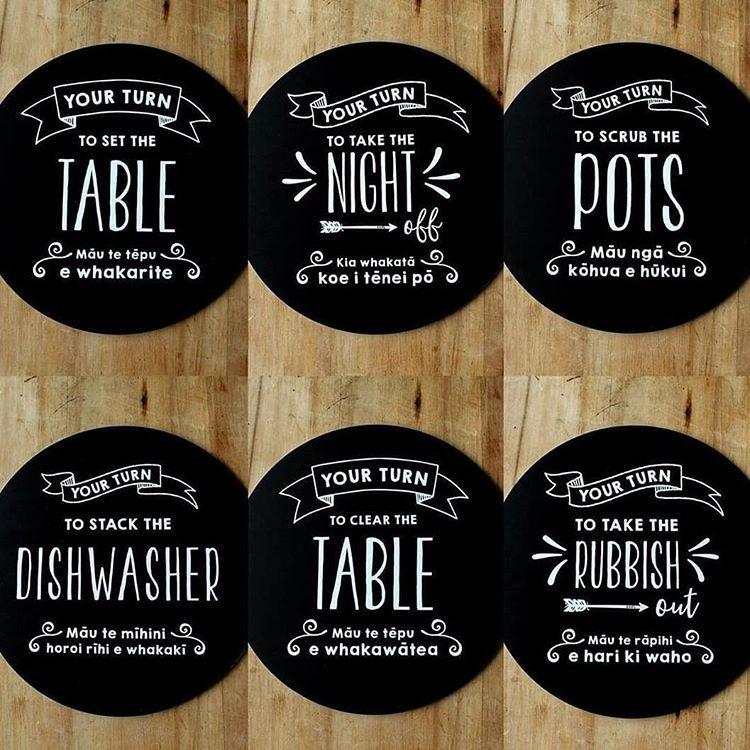 Moana Road: Placemats - Family Chores (Set of 6) image