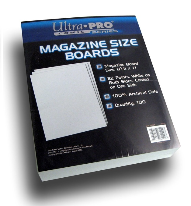 "Ultra Pro: Magazine Comic Backing Boards - (8.5"" x 11"")"
