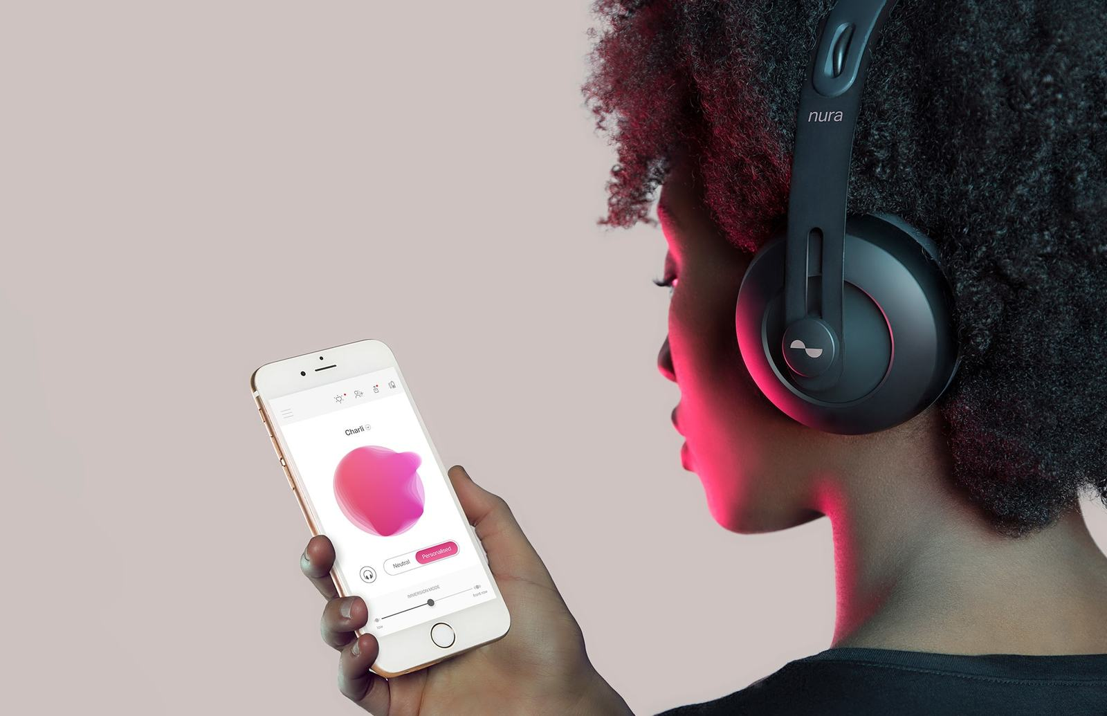 Nuraphone - Wireless Bluetooth Over Ear Headphones with Earbuds image