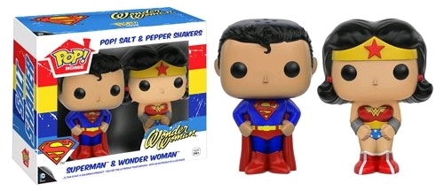 Superman - Superman & Wonder Woman Pop! Salt & Pepper Shakers image