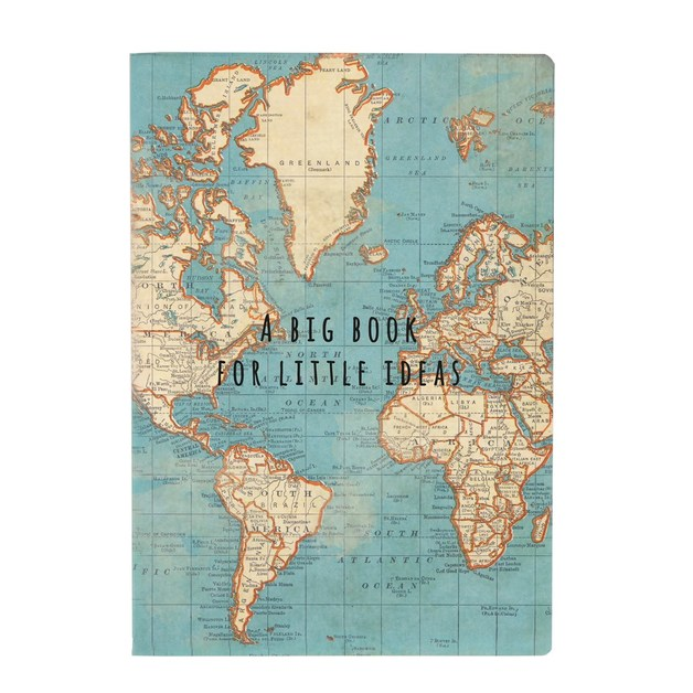 Sass & Belle: Big Book For Little Ideas Vintage Map A5 Notebook