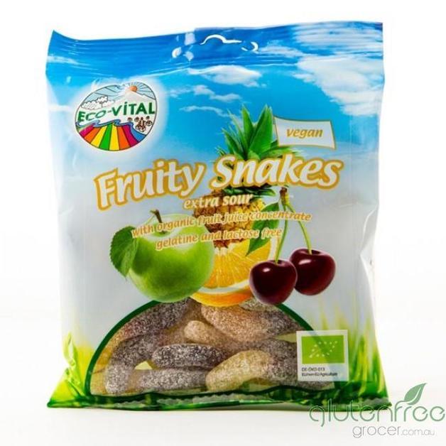 Eco-Vital Organic Fruity Sour Snakes 100g