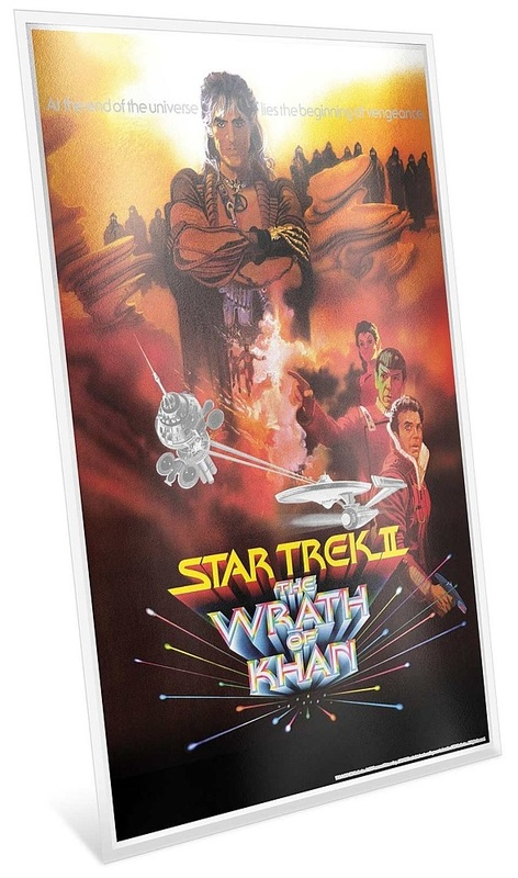 NZ Mint: Star Trek - Pure Silver Foil - The Wrath Of Khan (35g Silver)