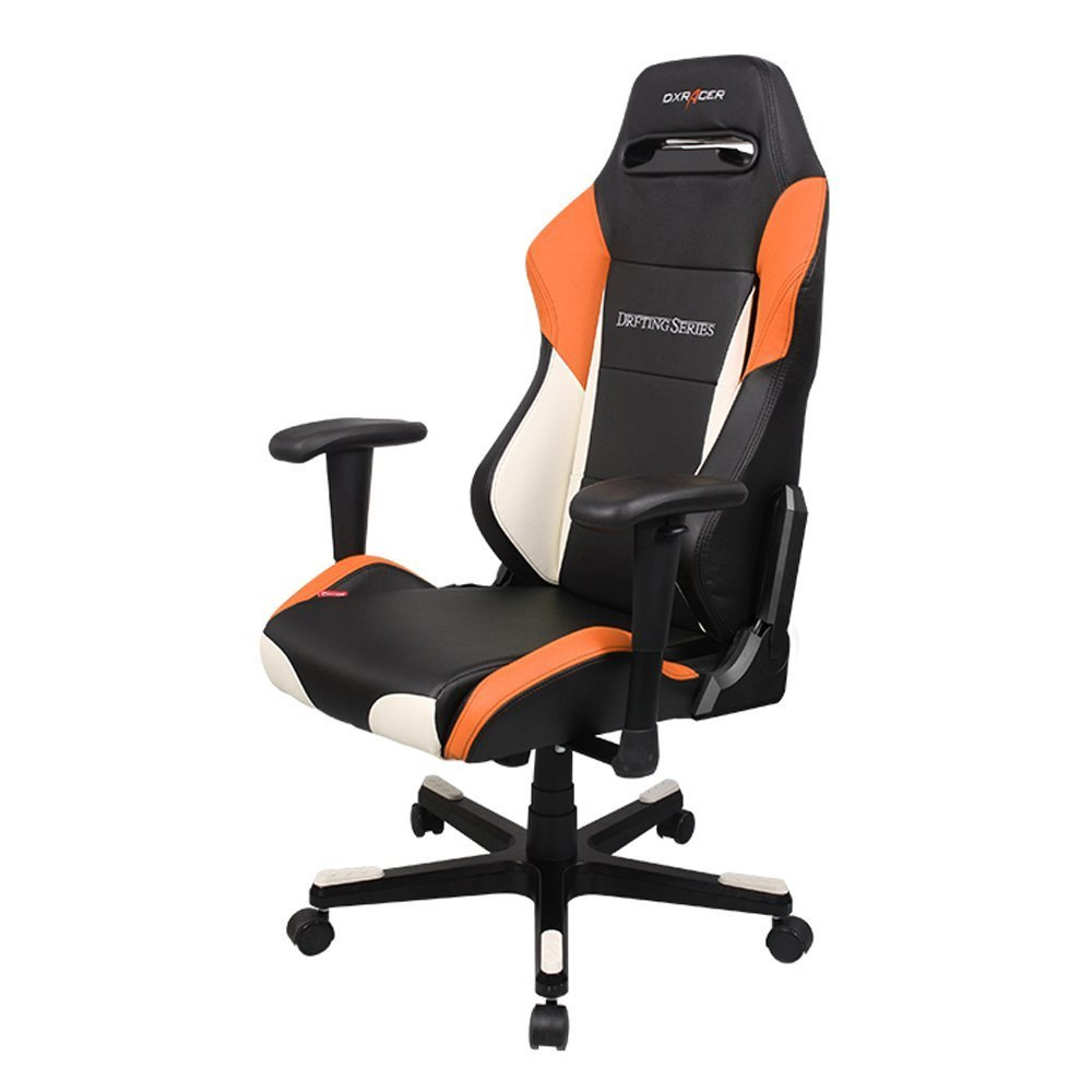 Dxracer Drifting Series Gaming Chair Black White And Orange Racing Oh Rv131 No For Image