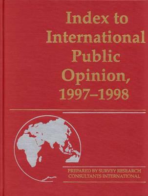 Index to International Public Opinion, 1997-1998 image