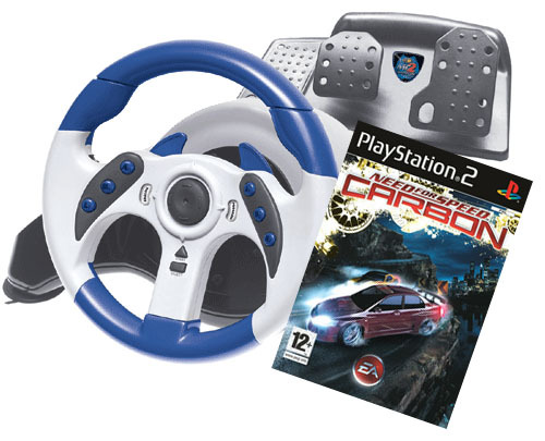 Need for Speed Carbon + Mad Catz Racing Wheel for PlayStation 2