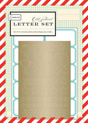 Paper + Cup Old School Letter Set by Paper + Cup