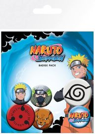 Naruto Shippuden Pin Badges (Mix)