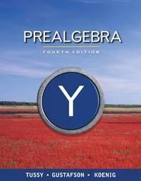 Prealgebra by R. Gustafson image