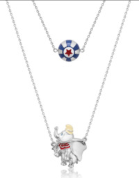 Couture Kingdom: Disney Dumbo Circus Ball Necklace - White Gold