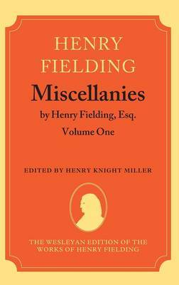 Miscellanies by Henry Fielding, Esq: Volume One by Henry Fielding image