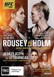 UFC 193 Rousey vs Holm on DVD
