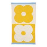 Orla Kiely Spot Flower Domino Face Towel - Lemon Yellow