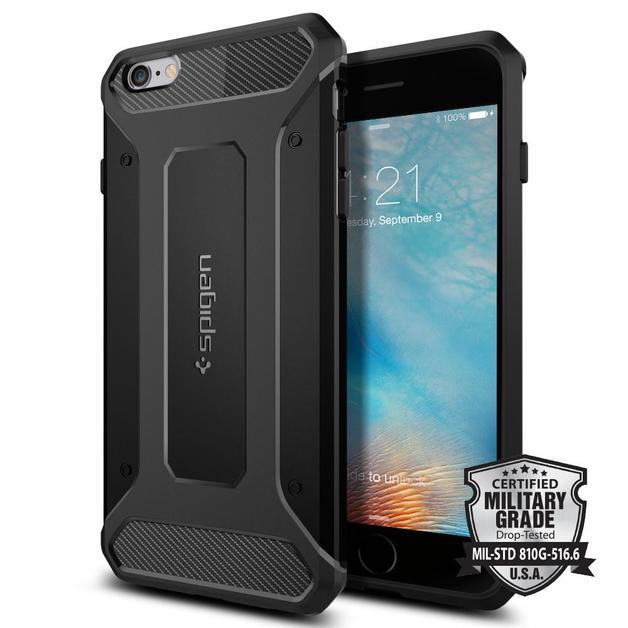 Spigen: iPhone 6s Plus - Rugged Armour Case (Black)