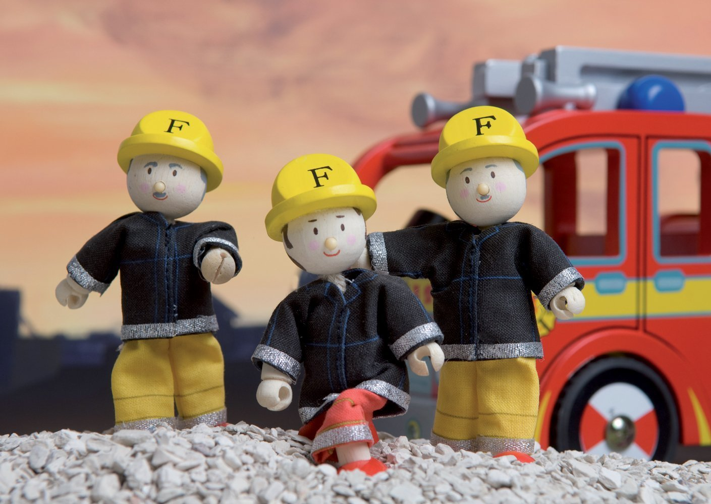 Le Toy Van: Budkins - Firefighters Gift Pack image