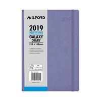 Milford 2019 Galaxy Weekly A5 Diary - Lavendar