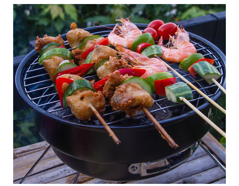 2 in 1 Portable Charcoal BBQ Grill with Cooler Bag image