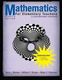 Mathematics for Elementary Teachers by Gary L. Musser image