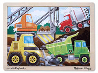 Construction Site Wooden Jigsaw Puzzle - Melissa & Doug