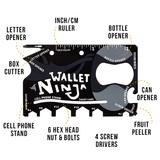 The Wallet Ninja - 16-in-1 Multi-Tool