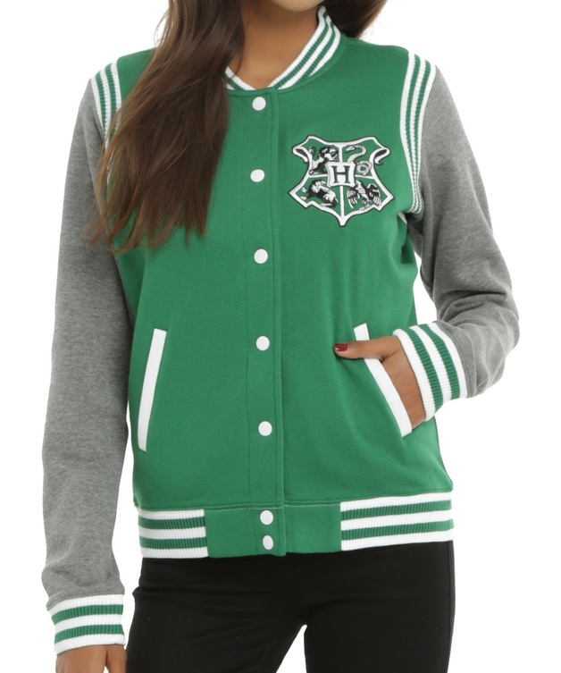 Harry Potter: Slytherin - Slim-Fit Varsity Jacket (Medium)