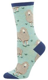 Socksmith: Women's Wool Be Friends Crew Socks - Mint Heather
