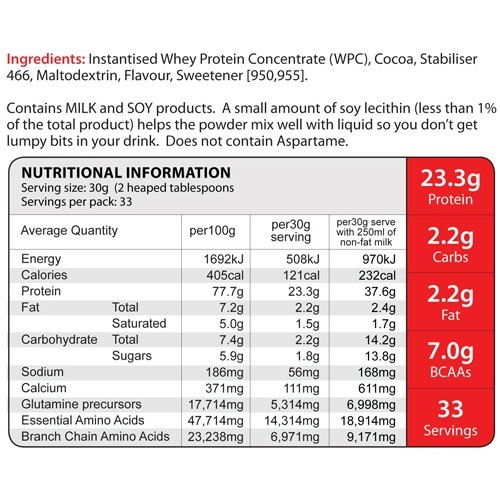 Eat Me 100% Whey Protein 1Kg (Cheeky Chocolate) image