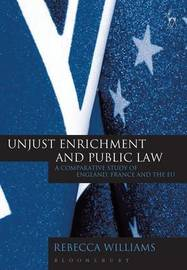 Unjust Enrichment and Public Law by Rebecca Williams image