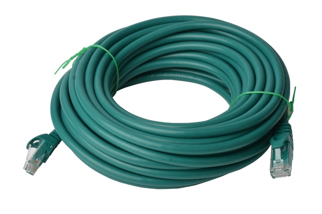 8ware: Cat 6a UTP Ethernet Cable Snagless - 10m (Green)