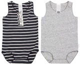 Bonds Wonderbodies Singletsuit 2 Pack - Solar System/Grey (12-18 Months)