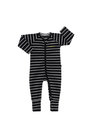 Bonds Ribby Zippy Wondersuit - Black/New Grey Marle (18-24 Months)