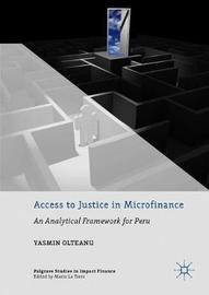 Access to Justice in Microfinance by Yasmin Olteanu